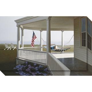 Canvas Art Gallery Wrap 'Morning (Porch)' by Zhen-Huan Lu 24 x 15-inch