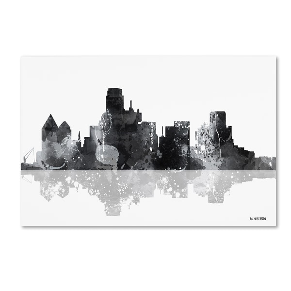 Marlene Watson 'Dallas Texas Skyline BG-1' Canvas Art