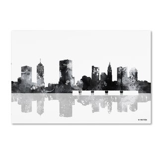Marlene Watson 'Columbus Ohio Skyline BG-1' Canvas Art