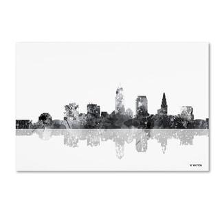 Marlene Watson 'Cleveland Ohio Skyline BG-1' Canvas Art