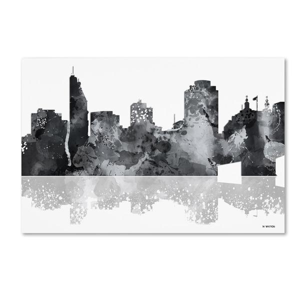 Marlene Watson 'Cincinatti Ohio Skyline BG-1' Canvas Art - Multi
