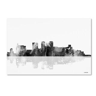 Marlene Watson 'Birmingham Alabama Skyline BG-1' Canvas Art