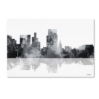 Marlene Watson 'Boise Idaho Skyline BG-1' Canvas Art