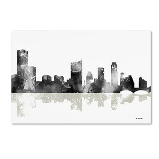 Marlene Watson 'Austin Texas Skyline BG-1' Canvas Art