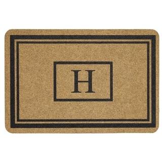 Mohawk Home Grand Terrace Natural Monogram H (1'11 x 2'11)
