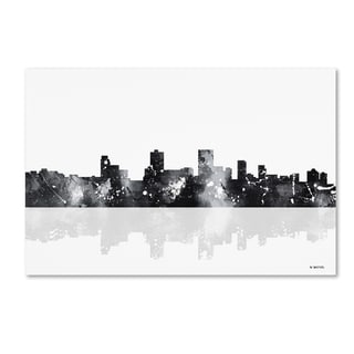 Marlene Watson 'Anchorage Alaska Skyline BG-1' Canvas Art