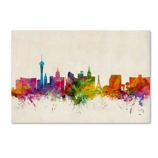 Michael Tompsett 'Las Vegas Nevada Skyline II' Canvas Art