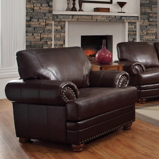 Coaster Company Colton Brown Smooth Bonded Leather Arm Chair