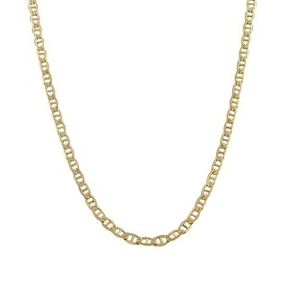 Decadence 14K Yellow Gold 8mm Concave Mariner Link Chain