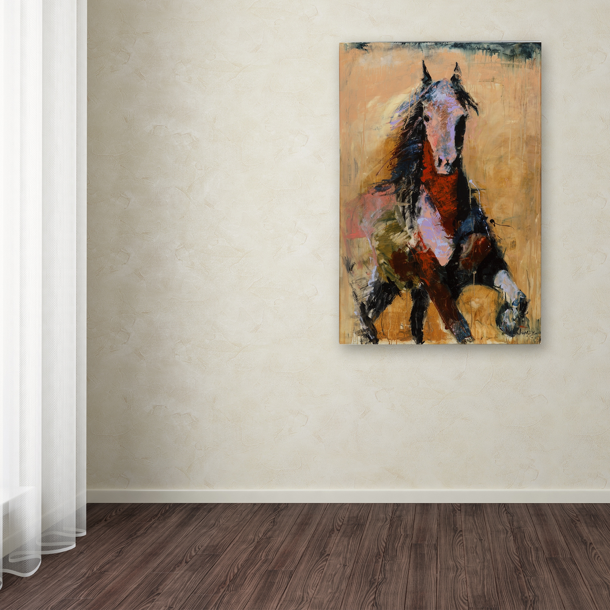 Joarez Golden Horse Canvas Art Overstock 12186627 16 X 24