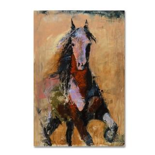 Joarez 'Golden Horse' Canvas Art