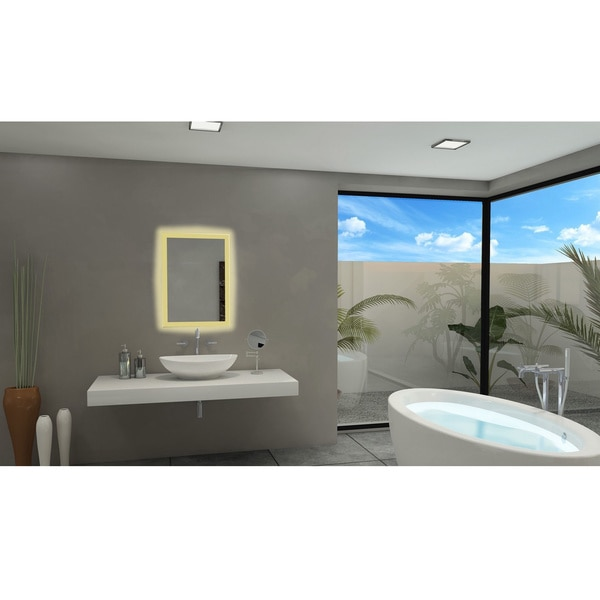 ib mirror rectangle backlit bathroom mirror free shipping today overstock com