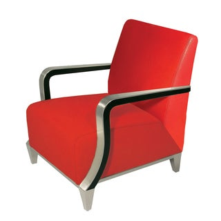 Bellini Modern Living Marbella Red Leather Arm Chair