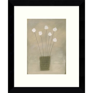 Framed Art Print 'Amity (Floral)' by James Hussey 9 x 11-inch