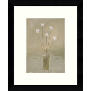 Framed Art Print 'Harmony (Floral)' by James Hussey 9 x 11-inch