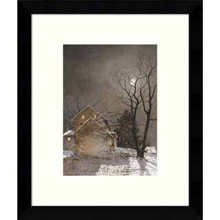 Framed Art Print 'Working Late' by Ray Hendershot 9 x 11-inch