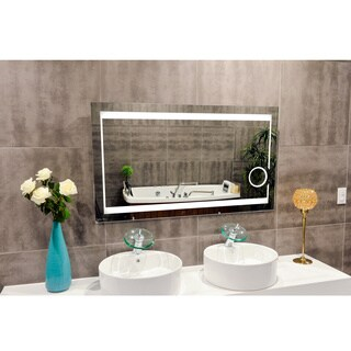 IB MIRROR Aurora 24-inch x 32-inch 6,000k LED Lighted Bathroom Mirror