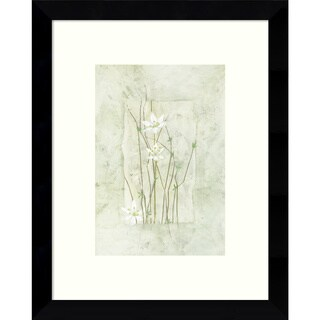 Framed Art Print 'Entwined Elegance (Daisies)' by Dominique Gaudin 9 x 11-inch