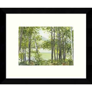 Framed Art Print 'Summer Lake V' by Elissa Gore 11 x 9-inch