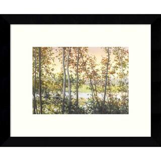 Framed Art Print 'Autumn Shady' by Elissa Gore 11 x 9-inch