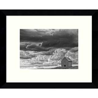 Framed Art Print 'All Alone (Barn)' by Trent Foltz 11 x 9-inch