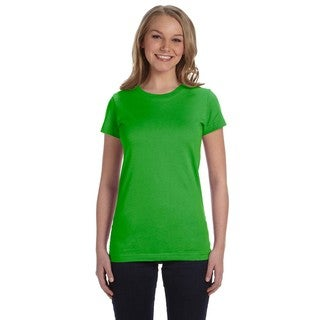 Junior's Bright Green Fine Jersey T-shirt