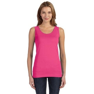 Juniors' Hot Pink Fine Jersey Longer Length Tank
