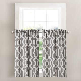 Lush Decor Edward Trellis Room-darkening Kitchen Tier Set