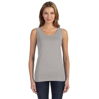 Juniors' Fine Jersey Longer Length Tank Heather