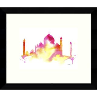 Framed Art Print 'India Dreams (Taj Mahal)' by Jessica Durrant 11 x 9-inch