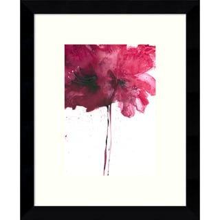 Framed Art Print 'Red Floral I' by Art Marketing 9 x 11-inch