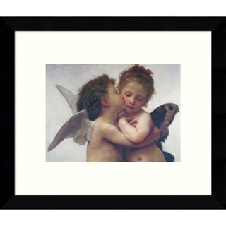 Framed Art Print 'The First Kiss' by William-Adolphe Bouguereau 11 x 9-inch