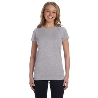 Juniors' Fine Jersey T-Shirt Heather