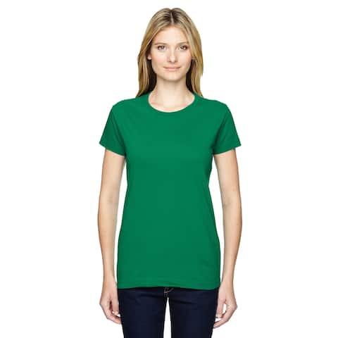 Junior Girls' Kelly Green Fine Jersey T-Shirt