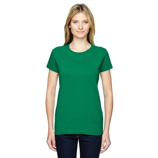 Junior Girls' Kelly Green Fine Jersey T-Shirt