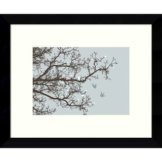 Framed Art Print 'Winter Whimsy Tree' by Erin Clark 11 x 9-inch