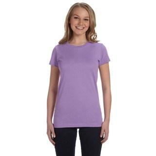 Junior's Lavender Fine Jersey T-shirt
