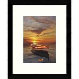 Framed Art Print 'Strange Stillness 2 (Boat)' by Carlos Casamayor 9 x 11-inch