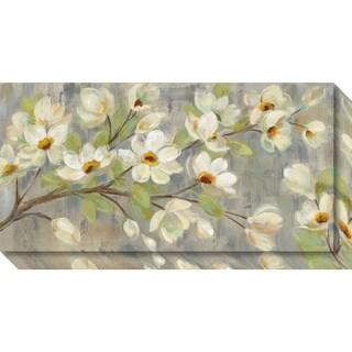 Canvas Art Gallery Wrap 'April Branch Magnolias' by Silvia Vassileva 27 x 14-inch