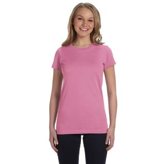 Girls' Pink Fine Jersey T-Shirt