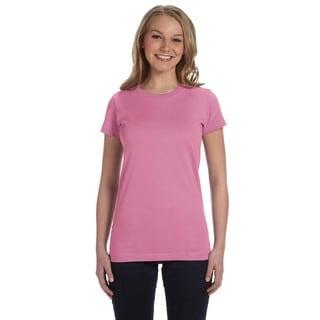 Girls' Pink Fine Jersey T-Shirt