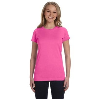 Juniors' Fine Jersey Raspberry T-Shirt