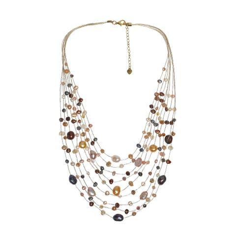 47dce5196f9 Buy Multi Color, Freshwater Pearl Necklaces Online at Overstock ...