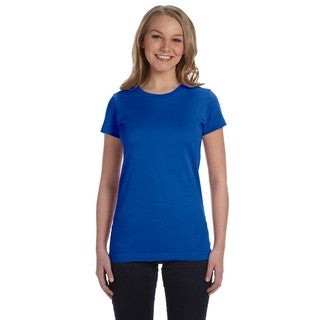 Juniors' Fine Royal Blue Jersey T-shirt