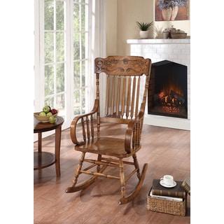 Oak Carved Rocker Chair