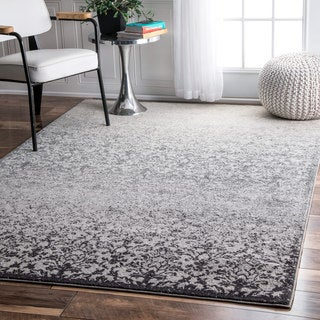 nuLOOM Modern Abstract Vintage Grey Rug  (7'10 x 9'6)
