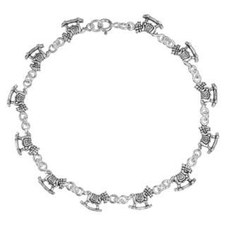 Rocking Horses Link .925 Sterling Silver Bracelet (Thailand)