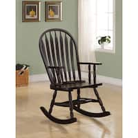 Coaster Company Cappuccino Finish Curved Rocking Chair