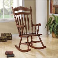 The Gray Barn Pitchfork Walnut Wood Rocking Chair