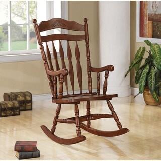 The Gray Barn Pitchfork Walnut Wood Rocking Chair